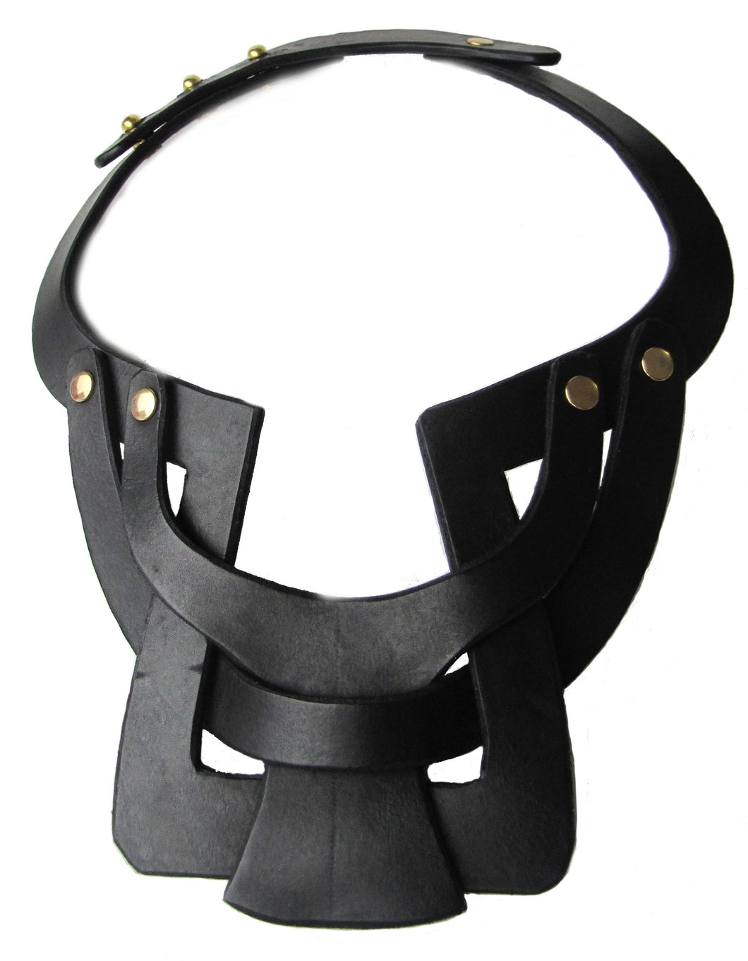 Bianca Leather necklace single layer interlocking - Black - Amber Poitier Inc.