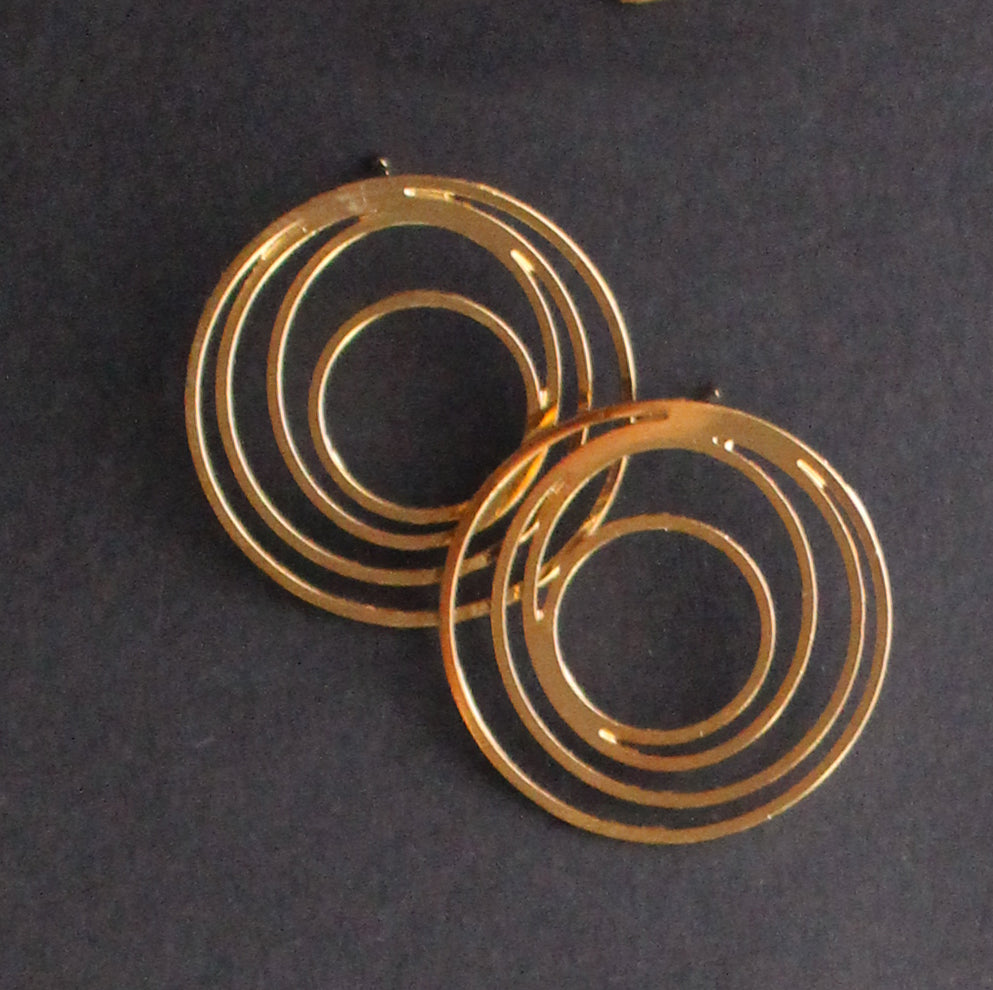Spiral Stud Earring Gold Finish