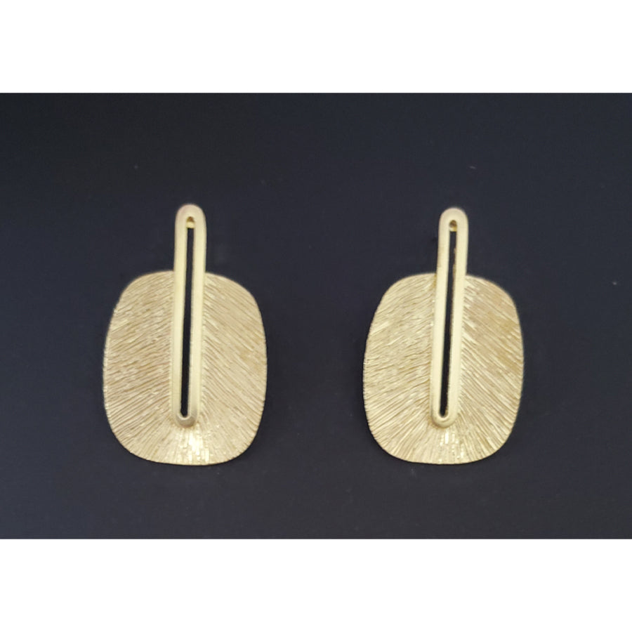 Frida Brass Post Earring