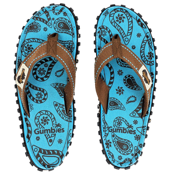 Gumbies Islander Ladies Canvas Flip Flops - Paisley