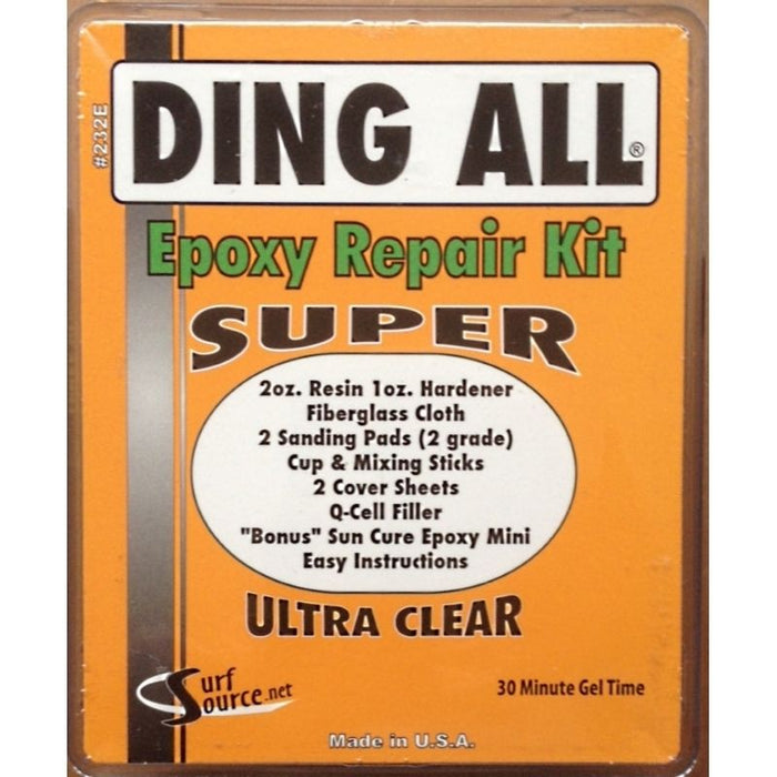 Ding All Super Epoxy Surfboard Repair Kit NEW SUP