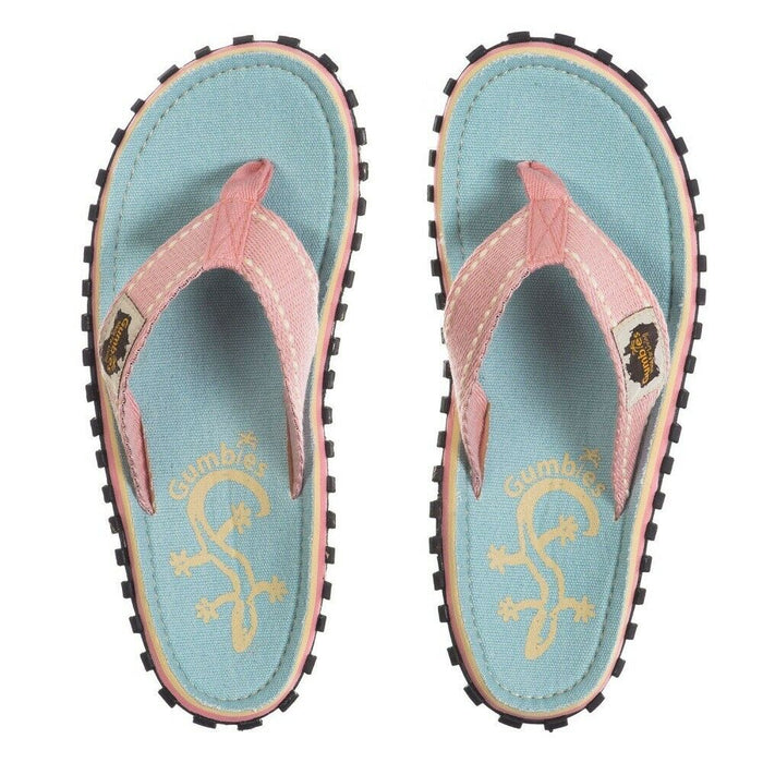 Gumbies Islander Ladies Canvas Flip Flops - Gecko