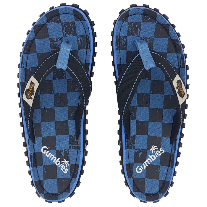 Gumbies Islander Mens Canvas Flip Flops - Checker