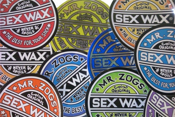 Pack of 4 Genuine Mr Zogs Sex Wax Stickers. 1""