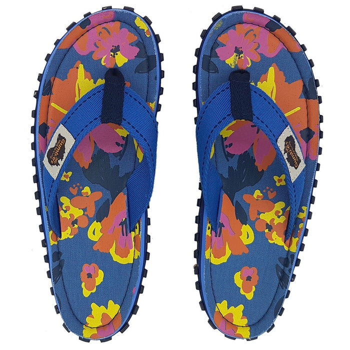Gumbies Islander Ladies Canvas Flip Flops - Floral