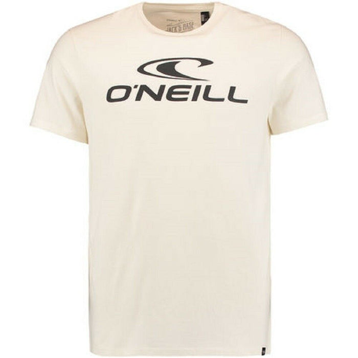 O'Neill Mens Jacks Logo T Shirt in Powder White