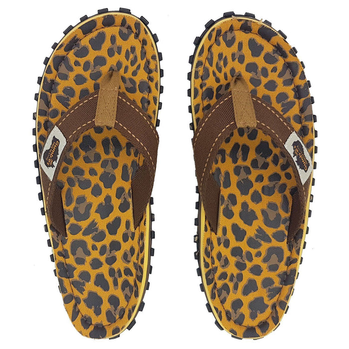 Gumbies Islander Ladies Canvas Flip Flops - Leopard