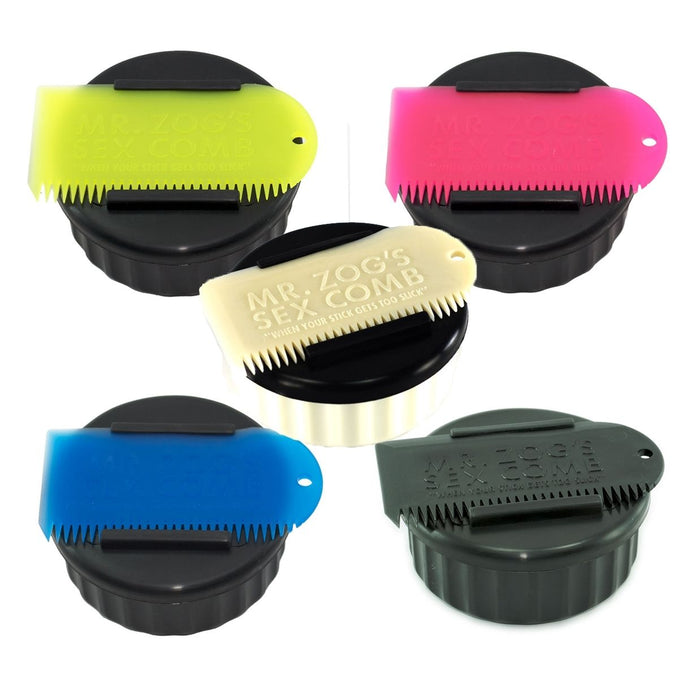 Mr Zogs Sex Wax Pot & Wax Comb. 5 Colours Available