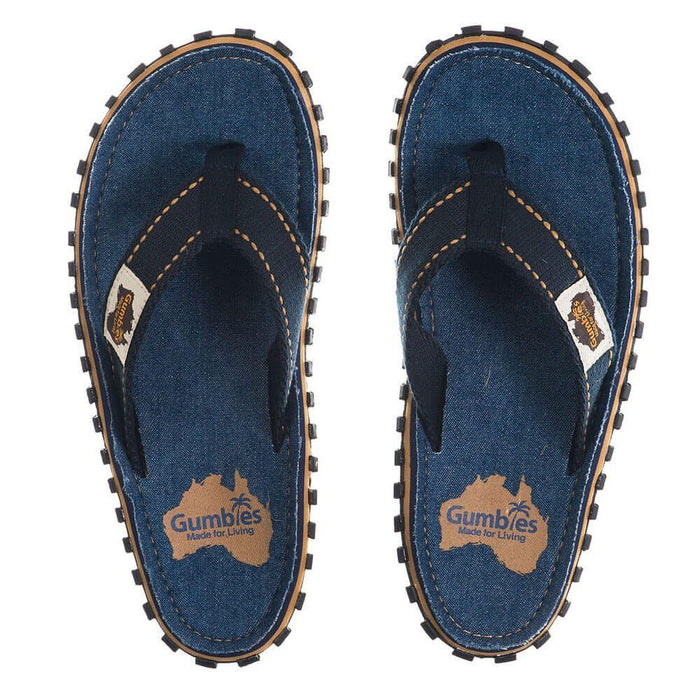 Gumbies Islander Unisex Canvas Flip Flops - Dark Denim