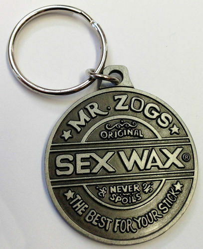 Mr Zogs Sex Wax Metal Keyring Key Ring