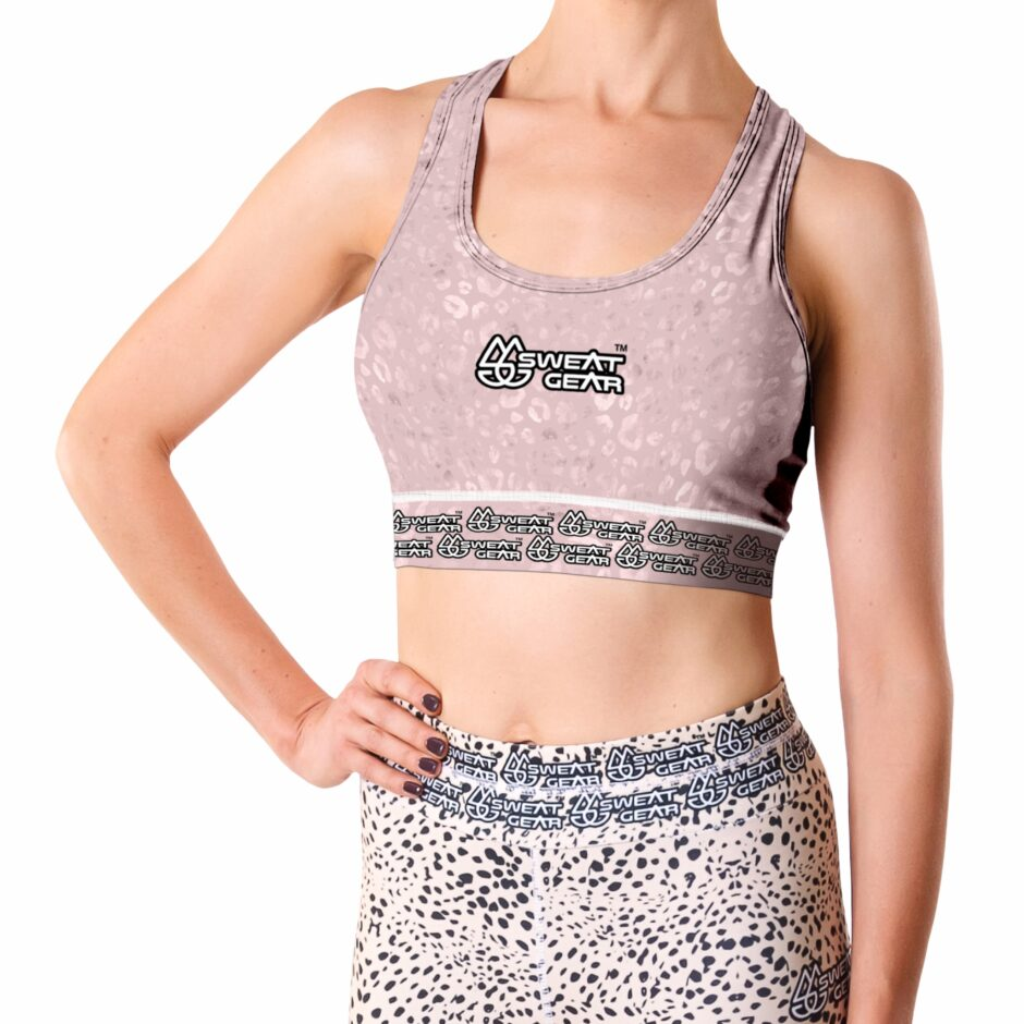 Marble Leopard Crop Top (Sweatgear)