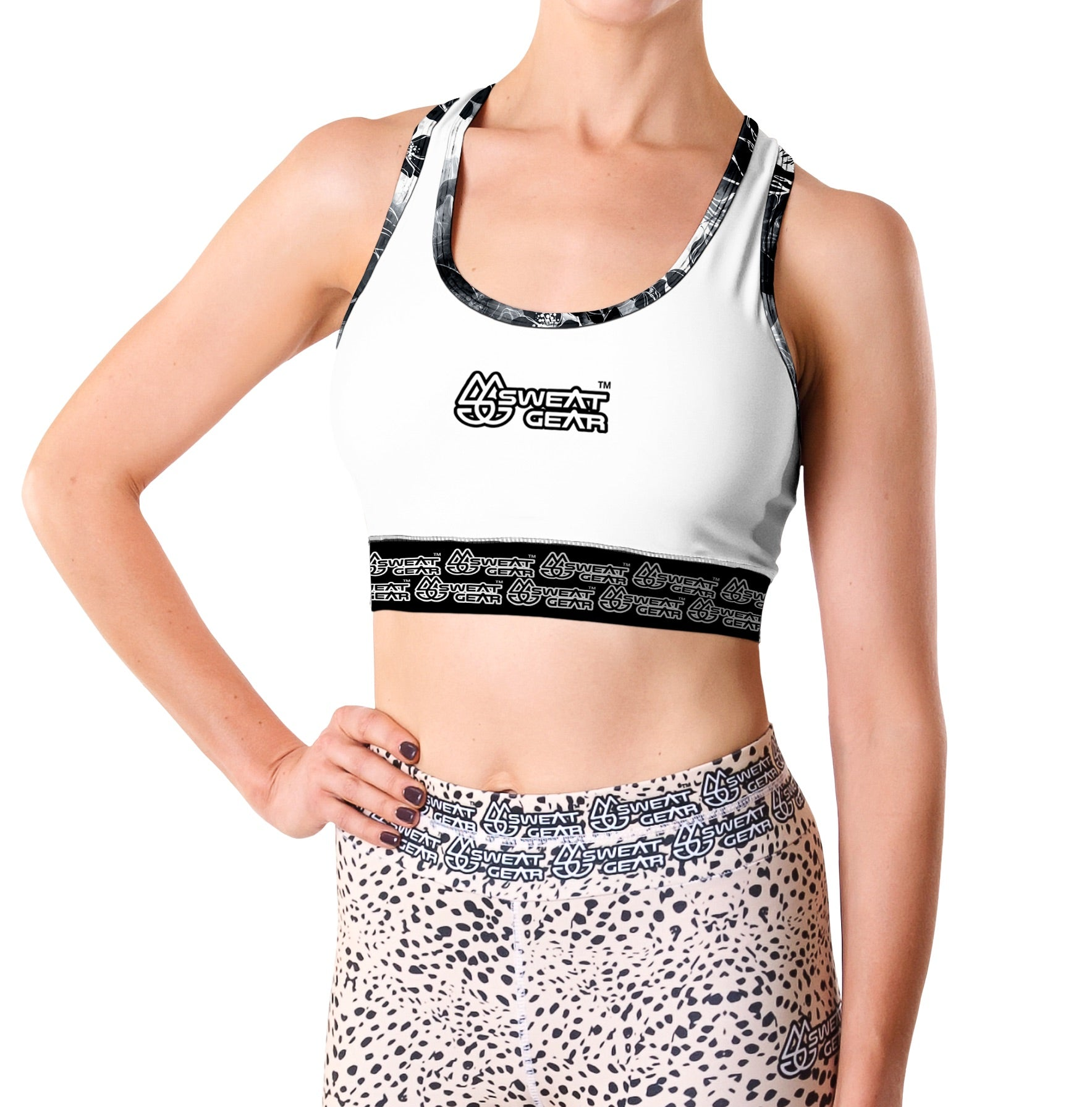Mystic White Crop Top (Sweatgear)