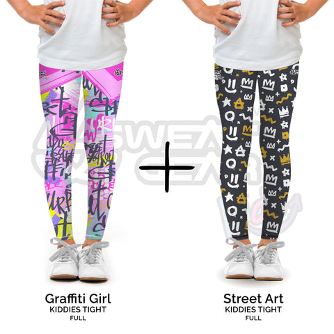 Bundle of 2: Graffiti Girl + Street Art (Sweatgear.Kids)