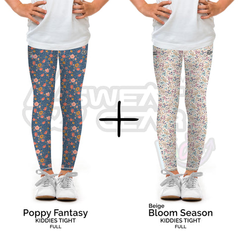 Bundle of 2: Poppy Fantasy + Bloom Season Beige (Sweatgear.Kids)