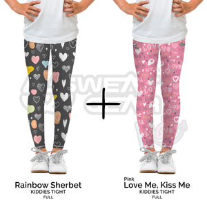 Bundle of 2: Rainbow Sherbet + Love Me Kiss Me Pink (Sweatgear.Kids)