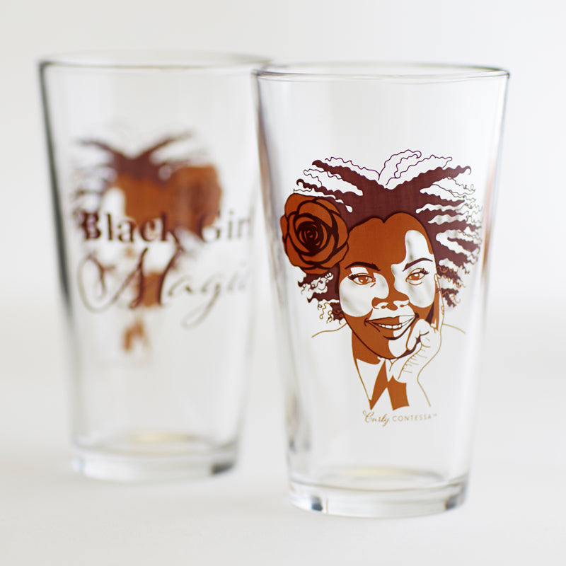 Black Girl Magic Pint Glass
