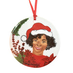 Tinsel Toe Christmas Ornament
