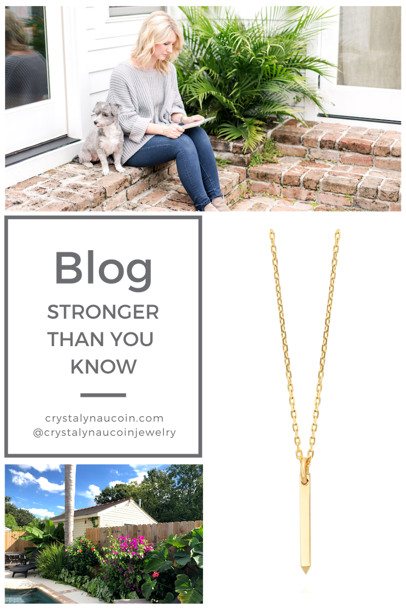 Stronger than you know strength pendant necklace