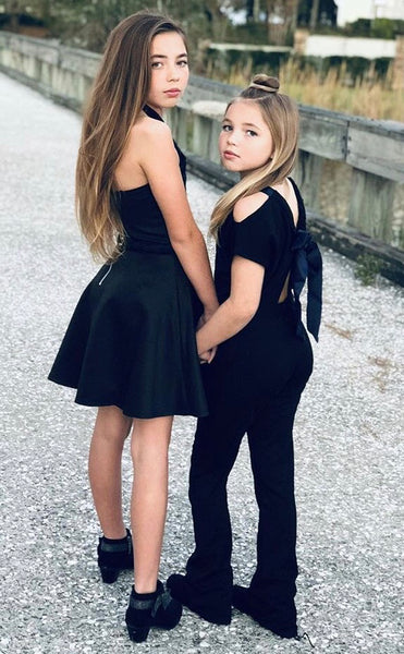 Danielson Sisters wearing the Olivia Dress and the Alexi Jumpsuit!