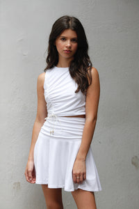 White Mia Skirt Set