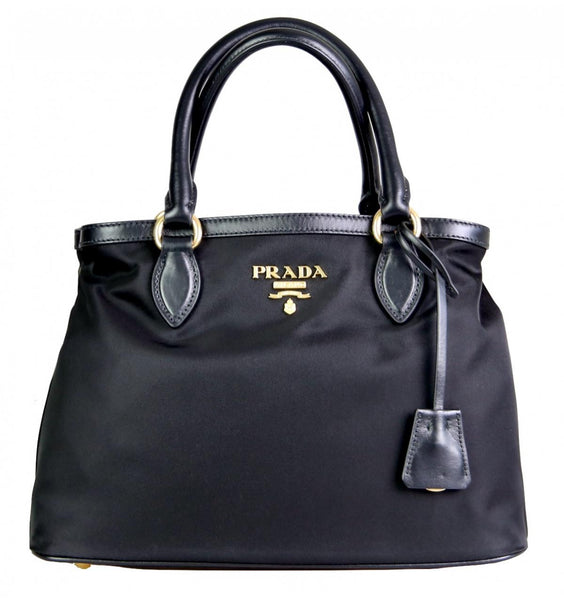 Prada Women's 1BA173 Black Nylon Shoulder Bag