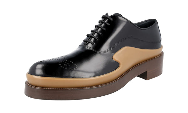 Prada Women's 1E050G X6O F0632 welt-sewn Leather Lace-up Shoes