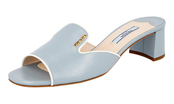 Prada Women's 1XX104 3D15 F0W96 High-Quality scratch resistant Saffiano Leather Leather Sandals