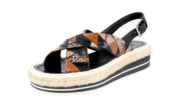 Prada Women's 1XZ455 3H00 F0005 Leather Sandals