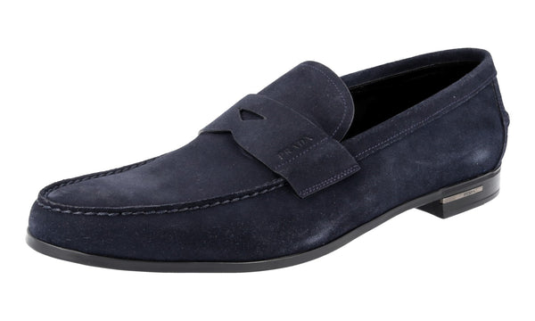 Prada Men's 2DA119 4G5 F0008 Leather Loafers