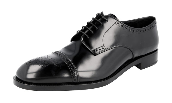 Prada Men's 2EA134 055 F0002 welt-sewn Leather Business Shoes