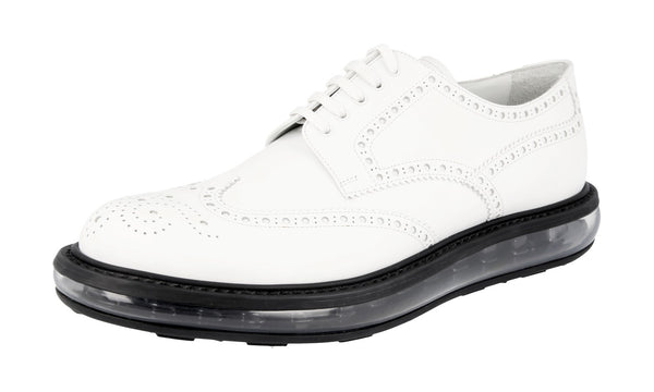 Prada Men's 2EE098 3G45 F0009 Full Brogue Leather Business Shoes