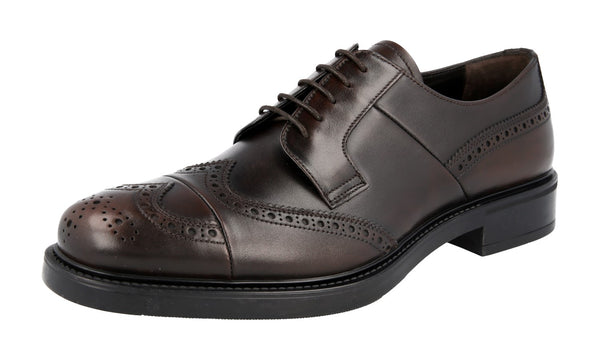 Prada Men's 2EE287 3V67 F0003 welt-sewn Leather Business Shoes