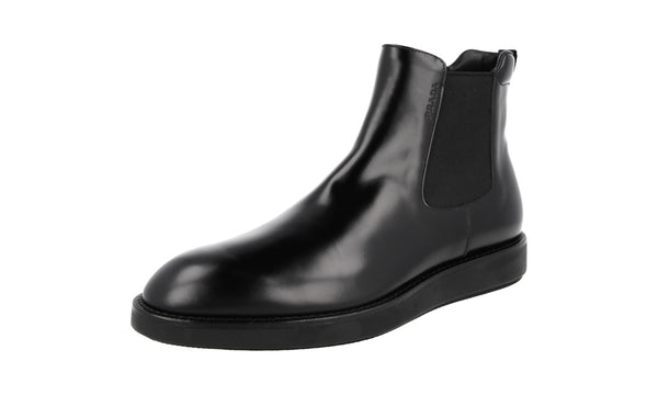 Prada Men's 2TE119 B4L F0002 welt-sewn Leather Half-Boot