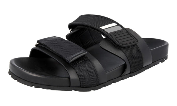 Prada Men's 2X3002 3J4Z F0806 Leather Sandals