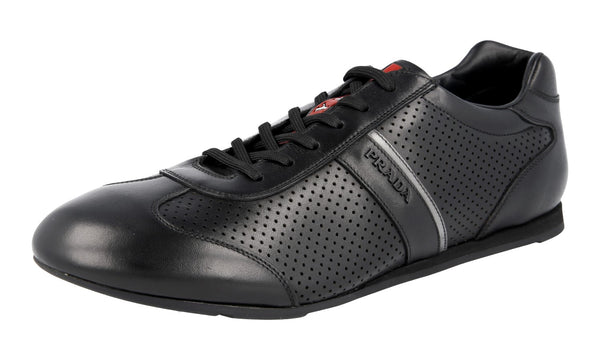 Prada Men's 4E2778 8PB F0A64 Leather Sneaker