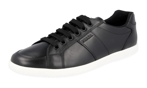 Prada Men's 4E2845 2ODU F0967 Leather Sneaker