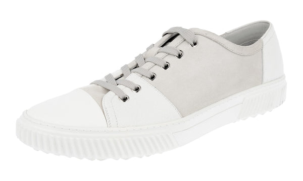 Prada Men's 4E3058 E3H F0CND Leather Sneaker