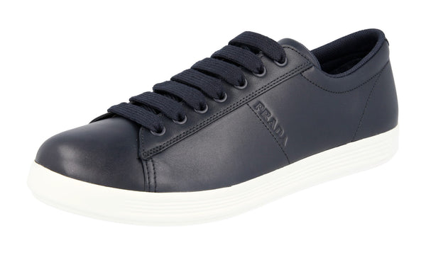 Prada Men's 4E3430 3O9U F0960 Leather Sneaker