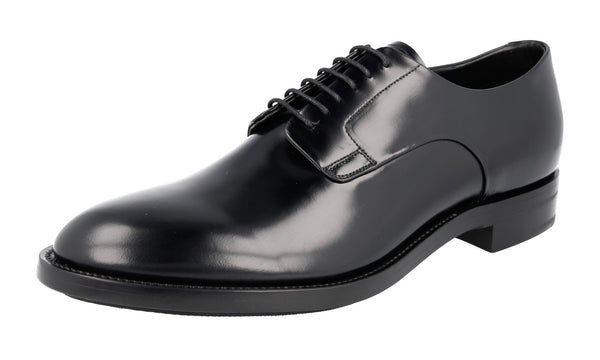 Prada Men's PCU009 999 F0VVV PR17 welt-sewn Leather Business Shoes