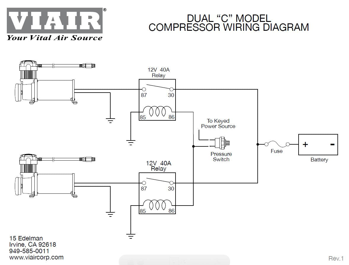 12v Relay Wiring Diagram Compressor Schematic Diagrams 12 Volt Viair Pressure Switch With Trusted