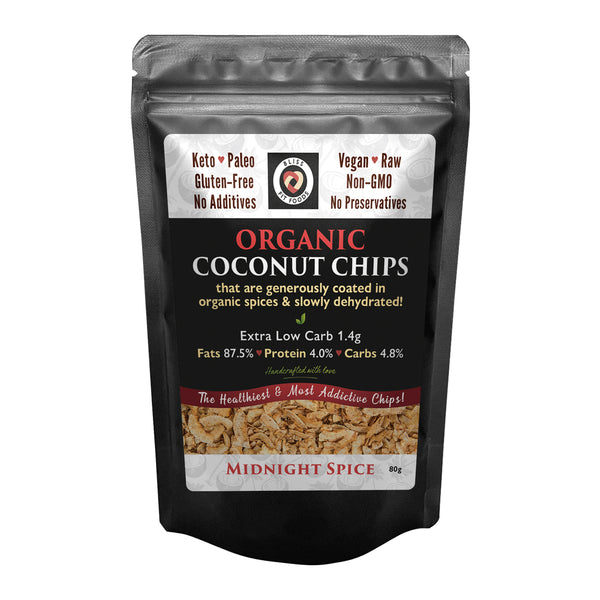 Bliss Fit Foods- Organic Coconut Chips(Midnight Spice)80g