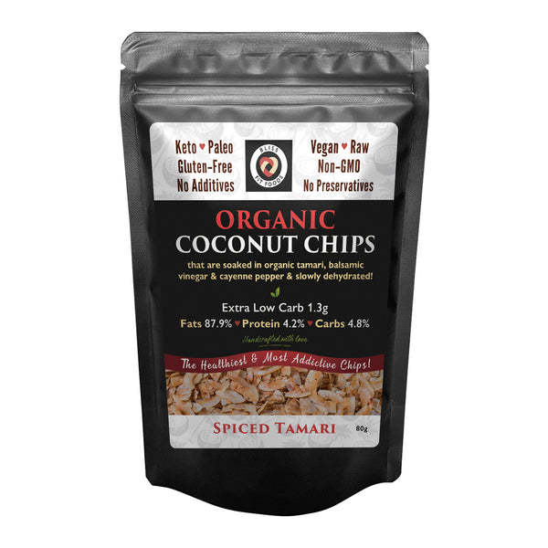 Bliss Fit Foods- Organic Coconut Chips(Spicy Tamari)80g