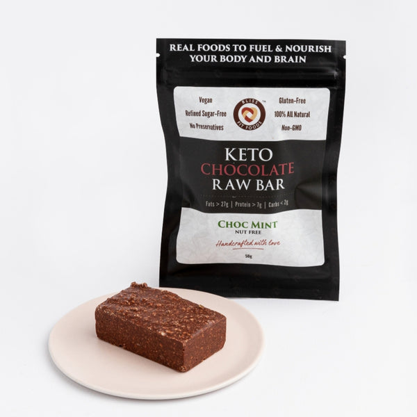 Bliss Fit Food-Keto Chocolate Raw Bar – Choc Mint 50g