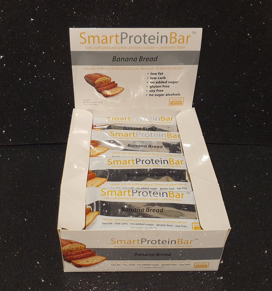 Smart Diet Solutions- (Bulk Buy 12 bars) Smart Protein Bar- Banana Bread