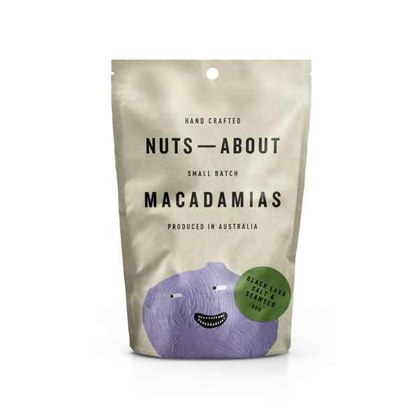 NUTS ABOUT -Macadamias ( Black Lava Salt & Seaweed)