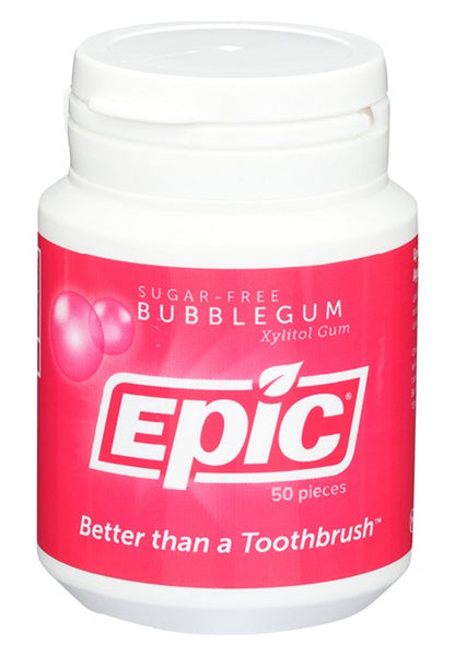Epic- Xylitol Bubble Gum Dental Gum 50ct