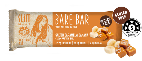 Slim Secrets- Bare Bar Salt Caramel and Banana 40g