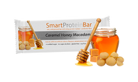Smart Diet Solutions- (Bulk Buy 12 bars) Smart Protein Bar- Caramel Honey Macadamia