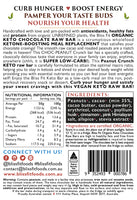 Bliss Fit Food-ORGANIC KETO CHOCOLATE RAW BAR – PEANUT CRUNCH-40g