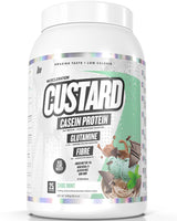 MuscleNation-CUSTARD CASEIN PROTEIN CHOC MINT (W/ REAL CHOC FLAKE PIECES)1KG